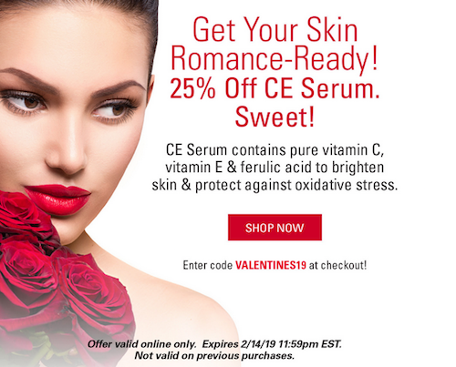 Valentine's Day Skin Care Discount Promotion